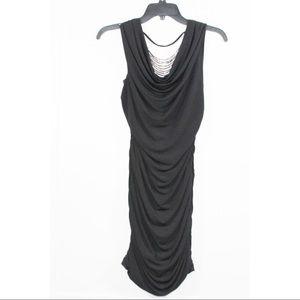 I.N. San Francisco black dress with beads